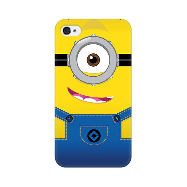 Apple iPhone 4 Smiley Minion Phone Cover & Case