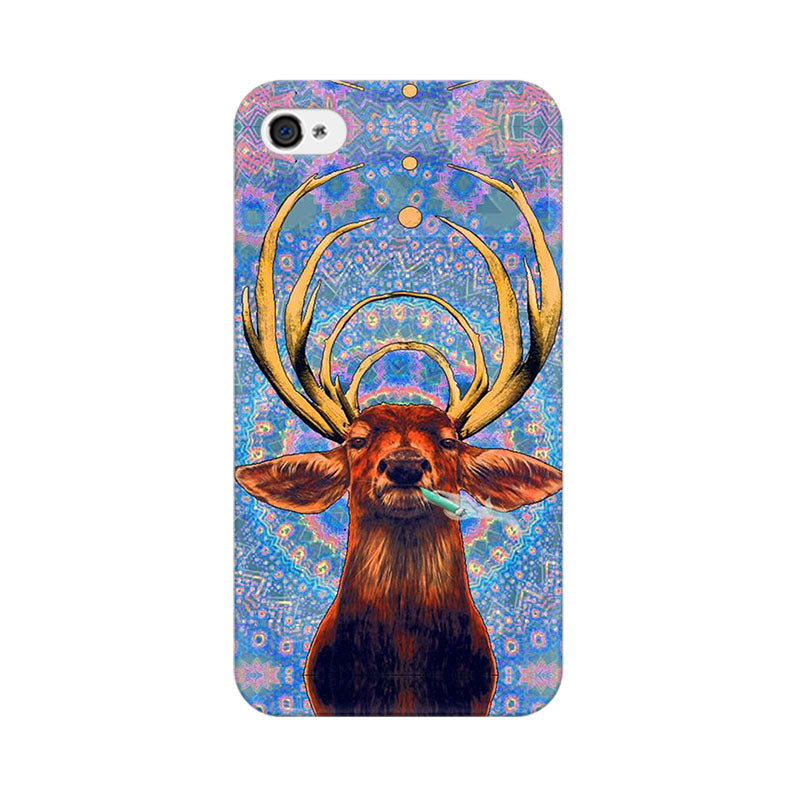 Apple iPhone 4 Smoking Deer Phone Cover & Case