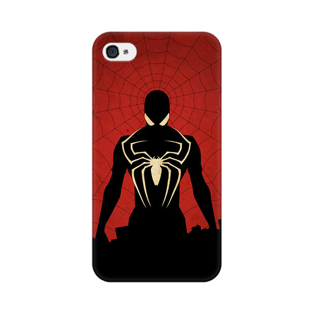 Apple iPhone 4 Spiderman In Black Phone Cover & Case