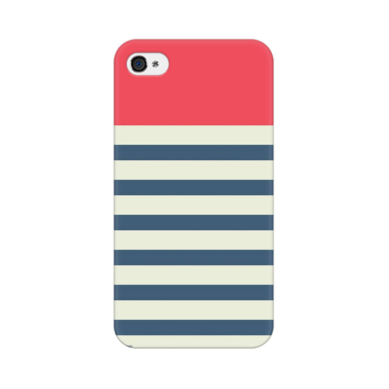 Apple iPhone 4 Stripes Pink Phone Cover & Case