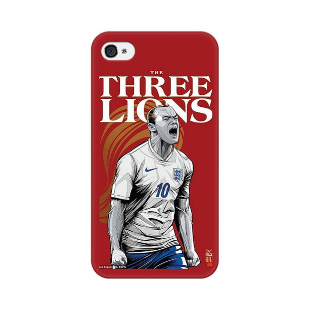 Apple iPhone 4 The Three Lions Phone Cover & Case