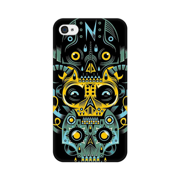 Apple iPhone 4 Three Skulls Phone Cover & Case