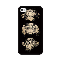 Apple iPhone 4 Three Wise Monkeys Phone Cover & Case
