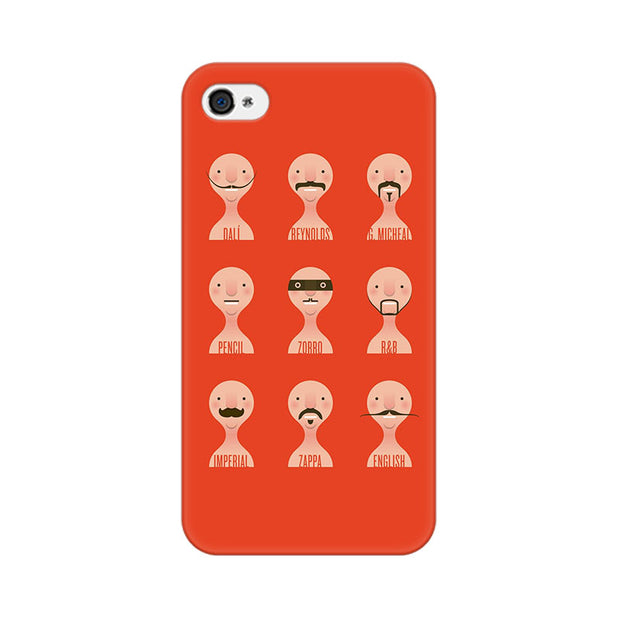 Apple iPhone 4 Types Of Beard Phone Cover & Case