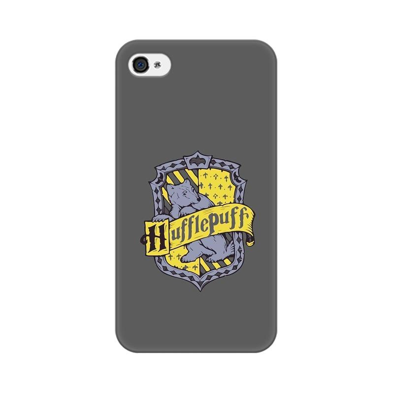 Apple iPhone 4 Hufflepuff House Crest Harry Potter Phone Cover & Case