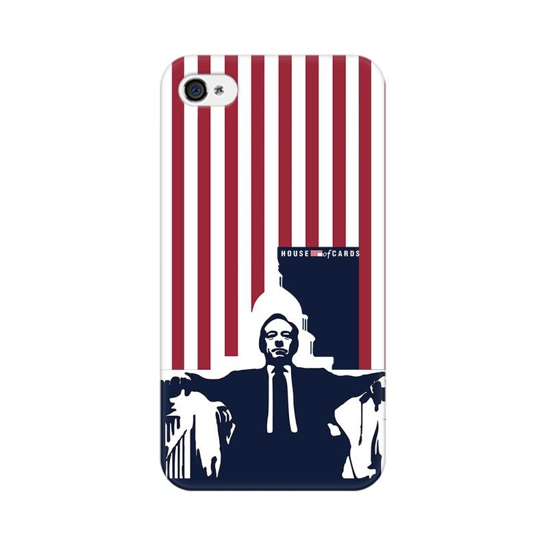 Apple iPhone 4 House Of Cards Underwood On Chair Phone Cover & Case