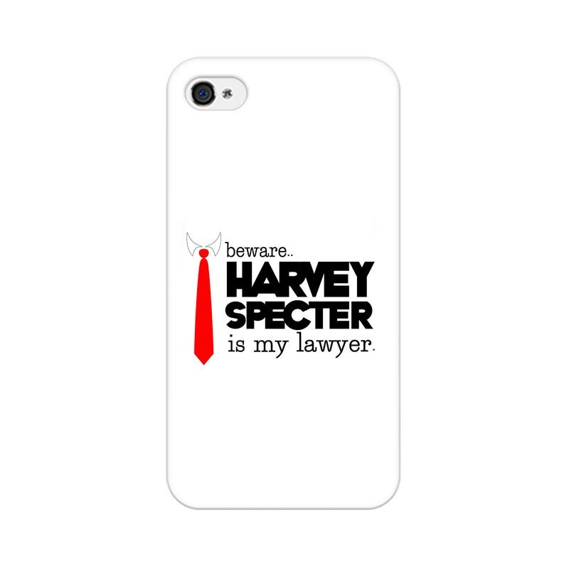 Apple iPhone 4 Harvey Spectre Is My Lawyer Suits Phone Cover & Case