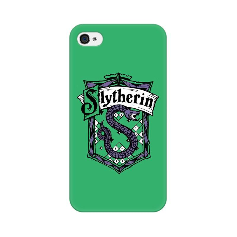 Apple iPhone 4 Slytherin House Crest Harry Potter Phone Cover & Case