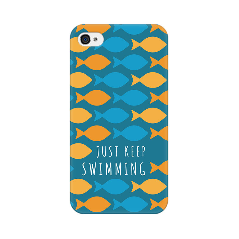 Apple iPhone 4s Just Keep Swimming Phone Cover & Case