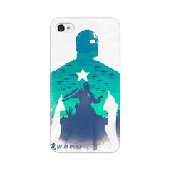Apple iPhone 4s Captain America Minimalist Phone Cover & Case