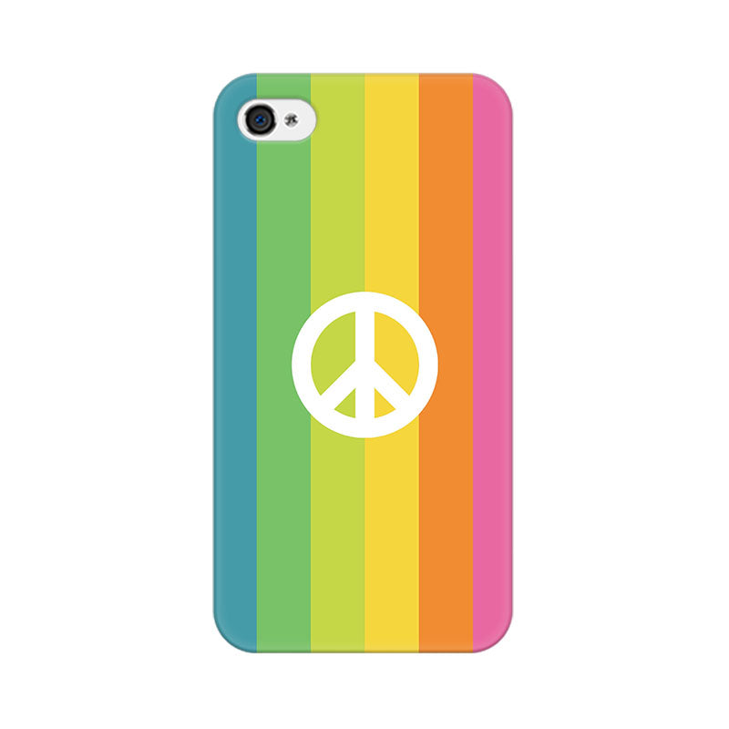Apple iPhone 4s Colorful Peace Phone Cover & Case
