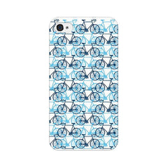 Apple iPhone 4s Blue Cycles Phone Cover & Case