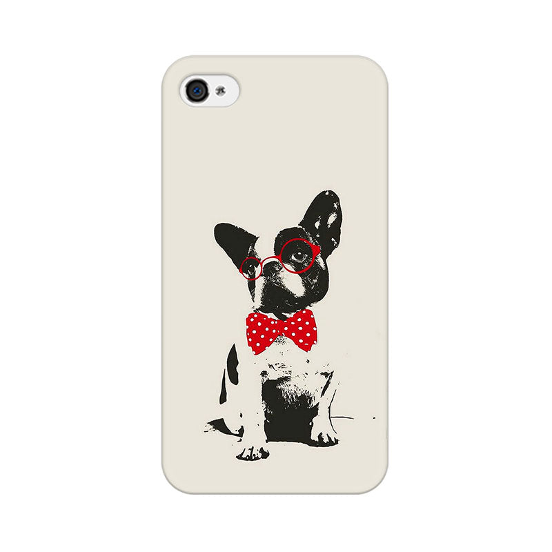 Apple iPhone 4s Bowtie Pup Phone Cover & Case