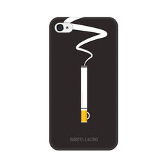 Apple iPhone 4s Cigs And Alcohol Phone Cover & Case
