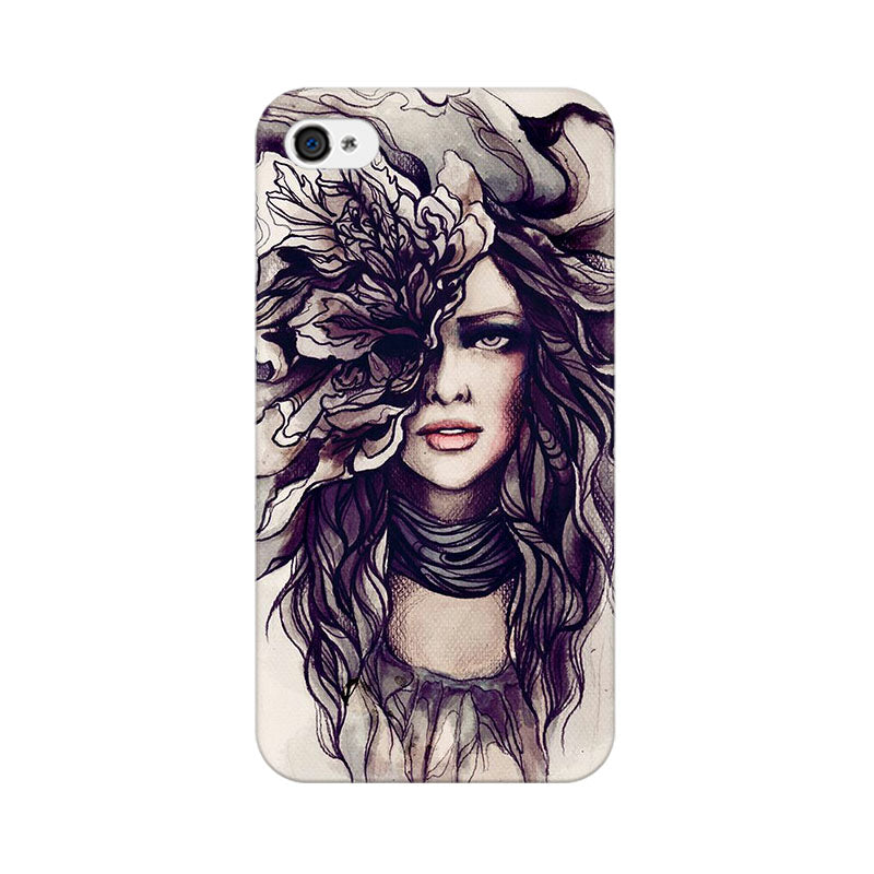 Apple iPhone 4s Crazy Hairy Girl Phone Cover & Case