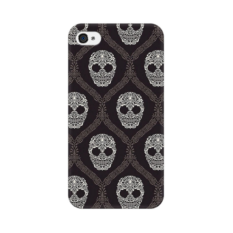 Apple iPhone 4s Floral Skull 2 Phone Cover & Case
