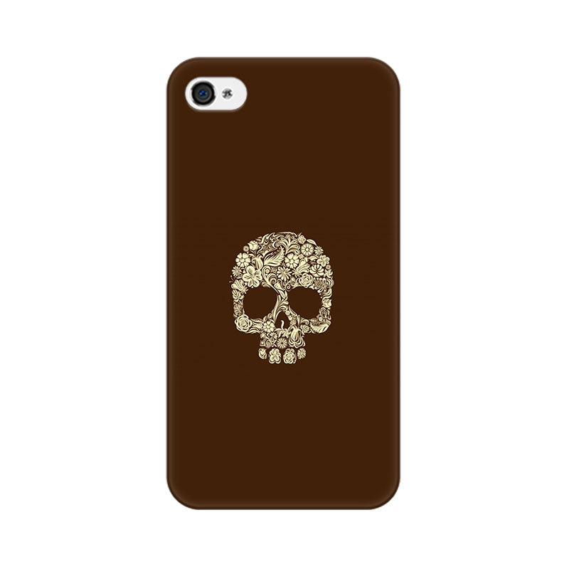 Apple iPhone 4s Floral Skull Phone Cover & Case