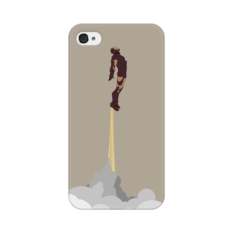 Apple iPhone 4s Flying Iron Man Phone Cover & Case