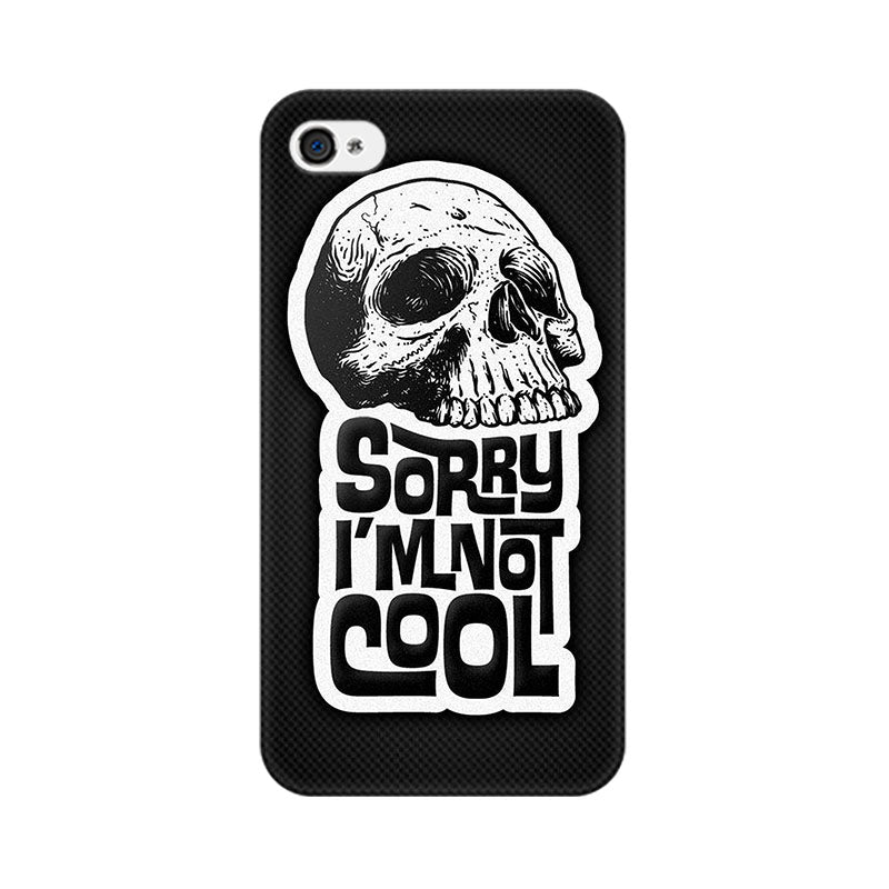 Apple iPhone 4s I Am Not Cool Phone Cover & Case