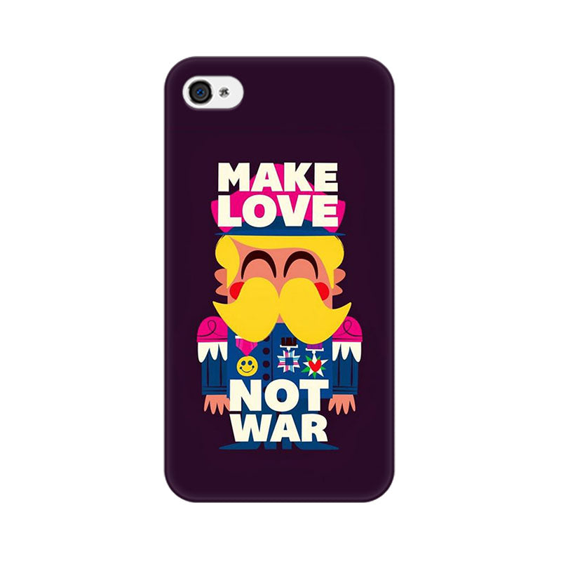 Apple iPhone 4s Make Love Not War Phone Cover & Case
