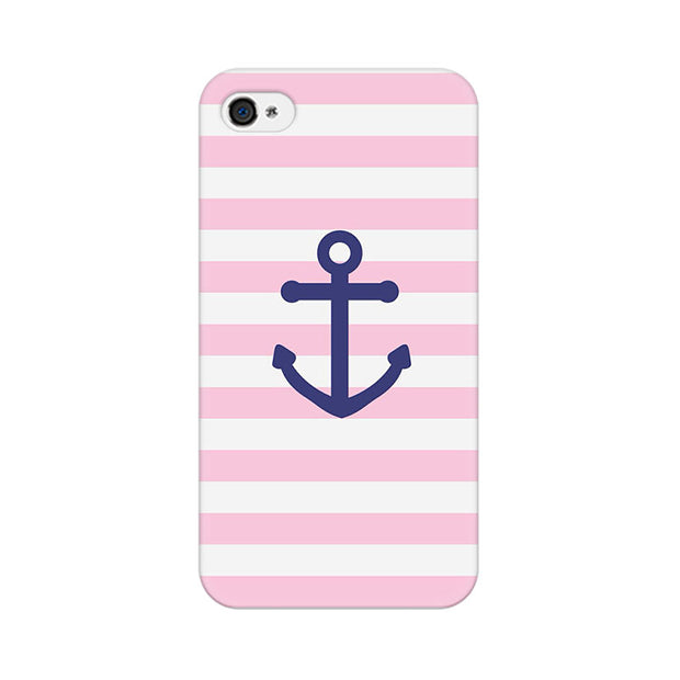 Apple iPhone 4s Pink Anchor Phone Cover & Case