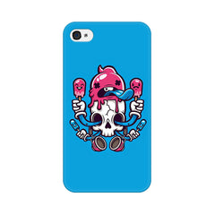 Apple iPhone 4s Skull Cream Phone Cover & Case