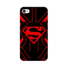 Apple iPhone 4s Superman Red Phone Cover & Case