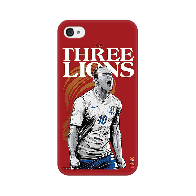 Apple iPhone 4s The Three Lions Phone Cover & Case