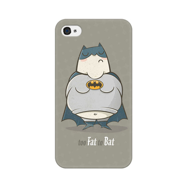 Apple iPhone 4s Too Fat To Bat Phone Cover & Case