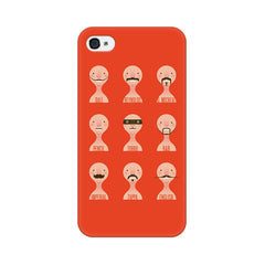 Apple iPhone 4s Types Of Beard Phone Cover & Case