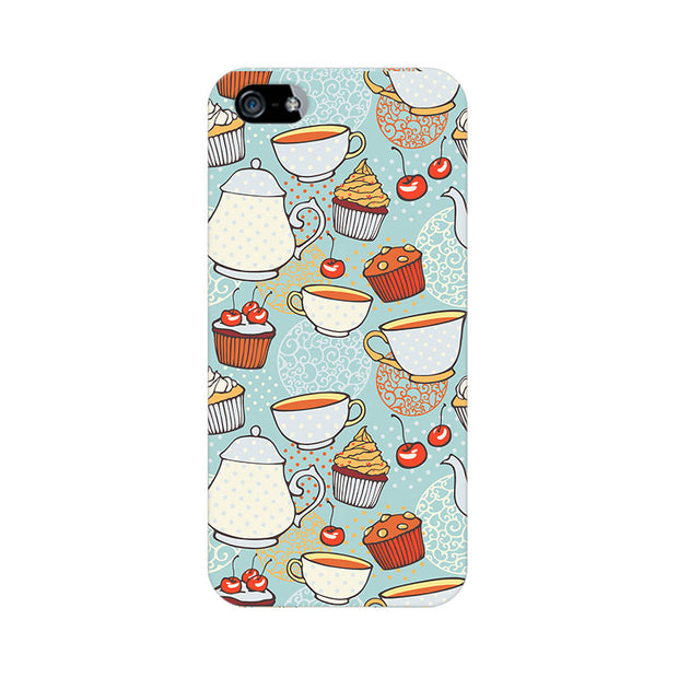 Apple iPhone 5 Cakes And Tea Phone Cover & Case