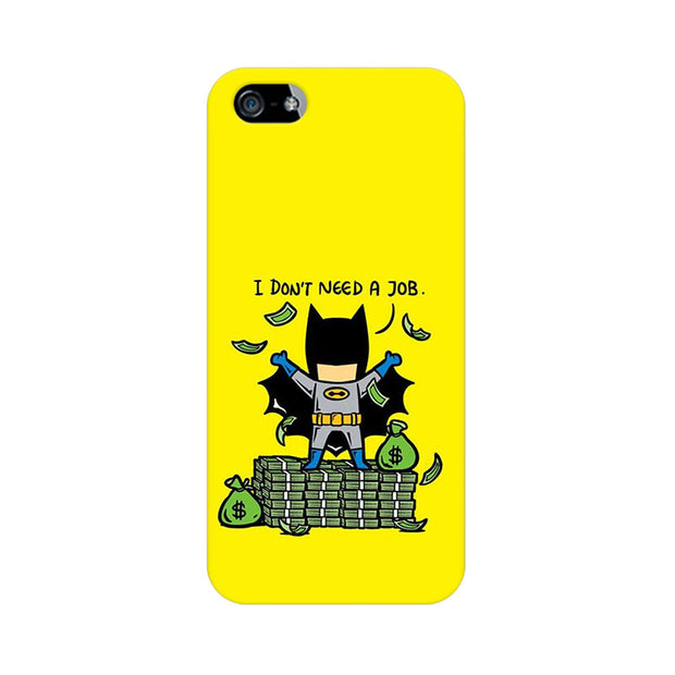 Apple iPhone 5 Batman Needs No Job Phone Cover & Case