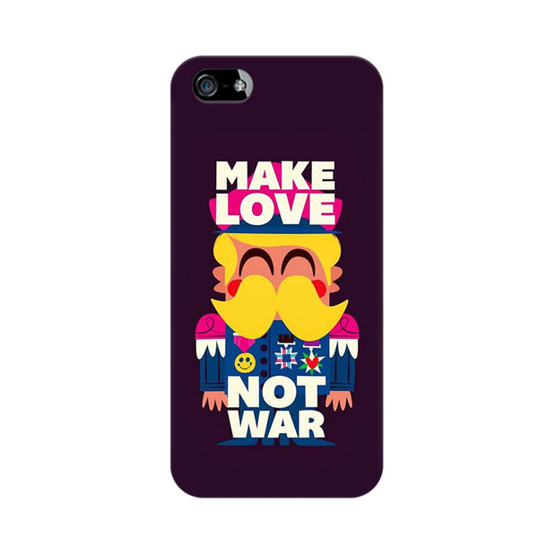 Apple iPhone 5 Make Love Not War Phone Cover & Case