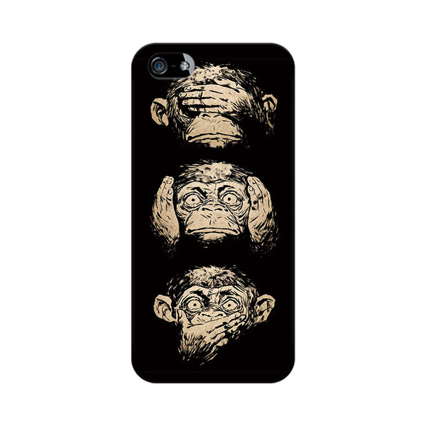 Apple iPhone 5 Three Wise Monkeys Phone Cover & Case