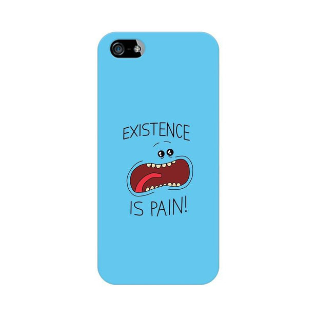 Apple iPhone 5 Existence Is Pain Mr Meeseeks Rick & Morty Phone Cover & Case
