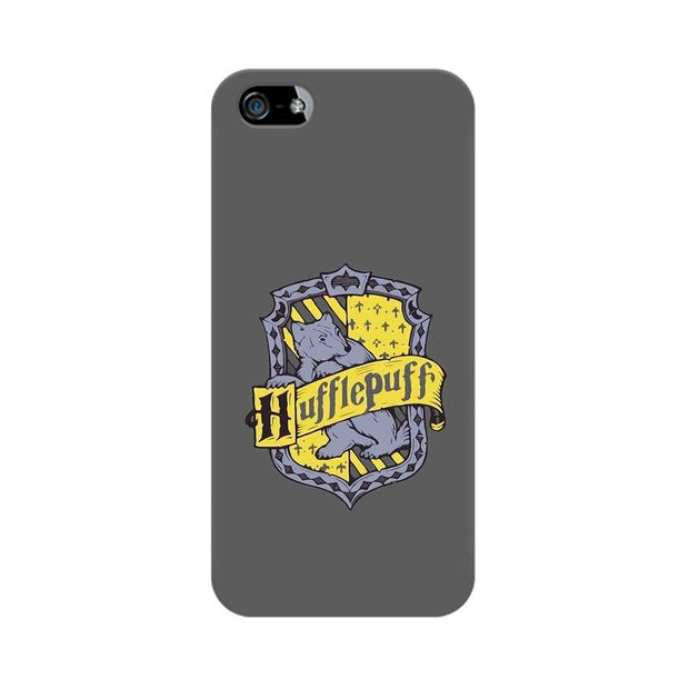 Apple iPhone 5 Hufflepuff House Crest Harry Potter Phone Cover & Case