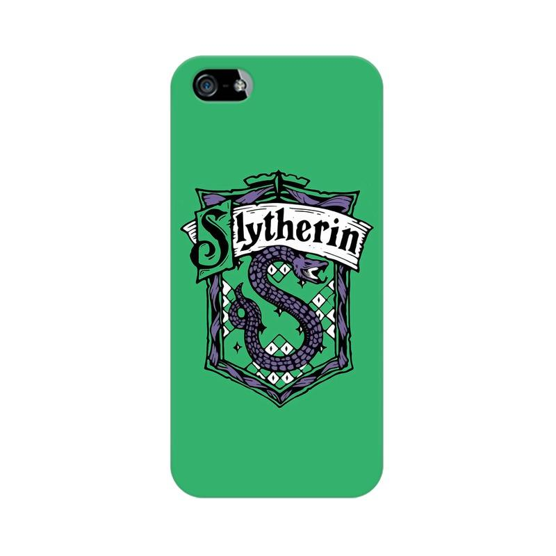 Apple iPhone 5 Slytherin House Crest Harry Potter Phone Cover & Case