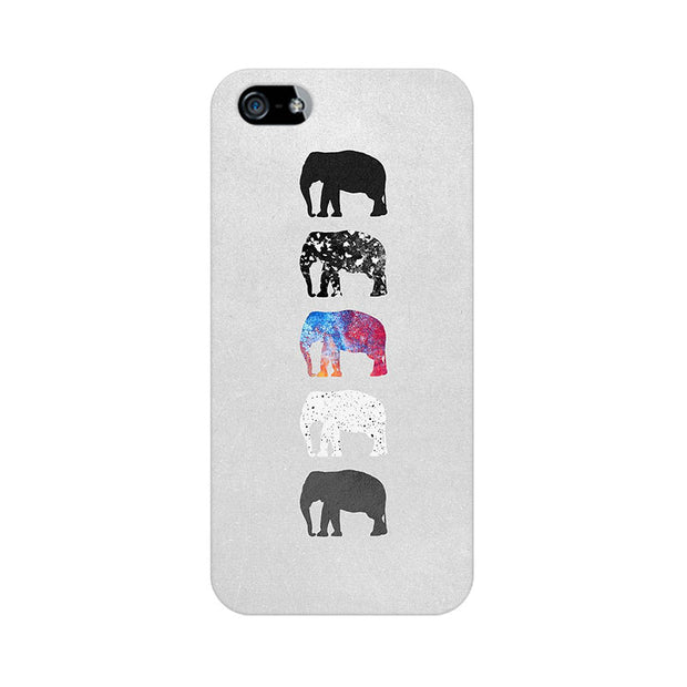 Apple iPhone 5s Five Shades Of Elephants Phone Cover & Case