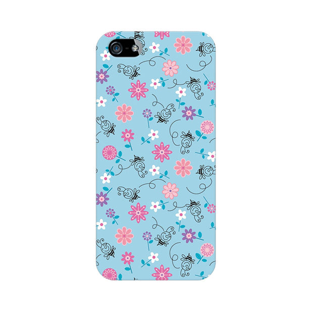 Apple iPhone 5s Floral Girly Wall Phone Cover & Case