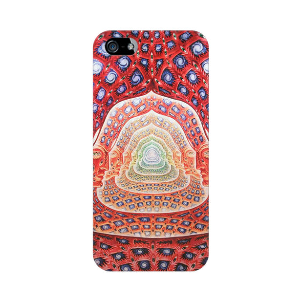 Apple iPhone 5s Psychedelic Faces On The Wall Phone Cover & Case