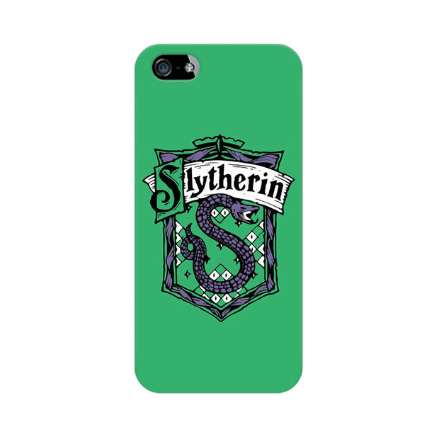 Apple iPhone 5s Slytherin House Crest Harry Potter Phone Cover & Case