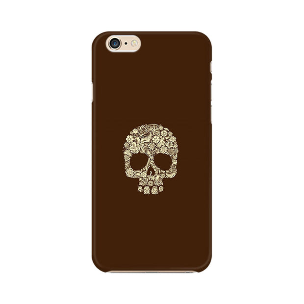 Apple iPhone 6 Plus Floral Skull Phone Cover & Case