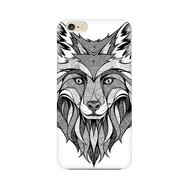 Apple iPhone 6 Plus Line Art Wolf Phone Cover & Case