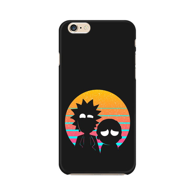 Apple iPhone 6 Plus Rick & Morty Outline Minimal Phone Cover & Case