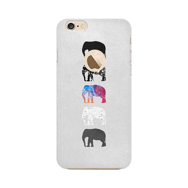 Apple iPhone 6 with Apple hole Five Shades Of Elephants Phone Cover & Case