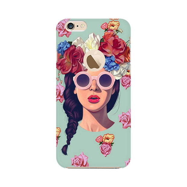 Apple iPhone 6 with Apple hole Floral Girl Phone Cover & Case
