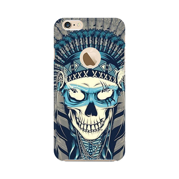 Apple iPhone 6 with Apple hole Indian Skull Phone Cover & Case