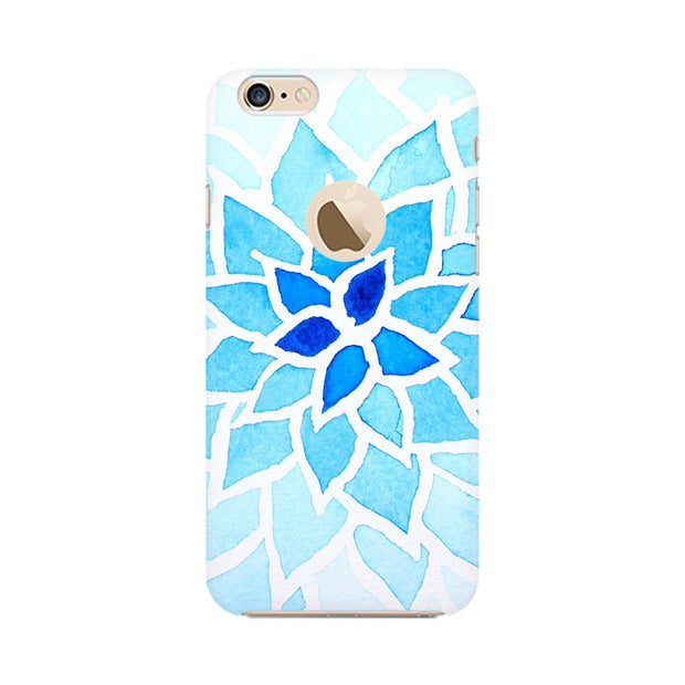 Apple iPhone 6 with Apple hole Lotus Blue Phone Cover & Case