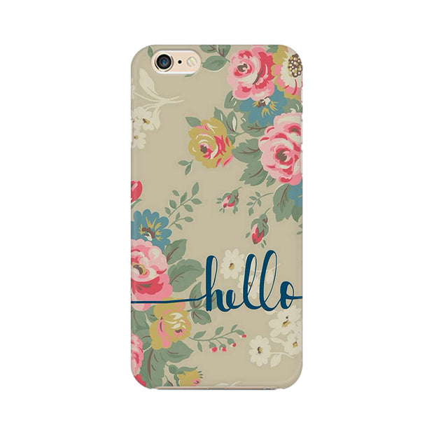 Apple iPhone 6s Flowery Hello Phone Cover & Case