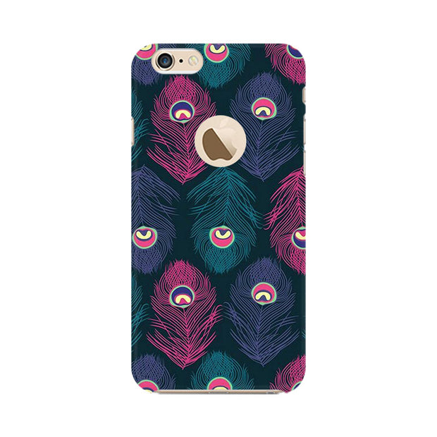 Apple iPhone 6s with Apple hole Peacock Fethers Phone Cover & Case